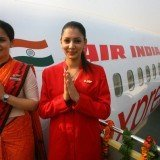 Air India air hostesses, wear their new