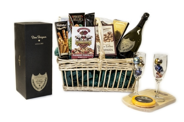 Food and wine gift for father