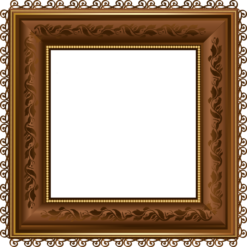 Brown_PNG_Photo_Frame