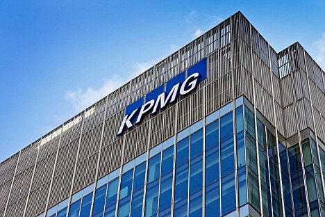 KPMG building in Docklands London England