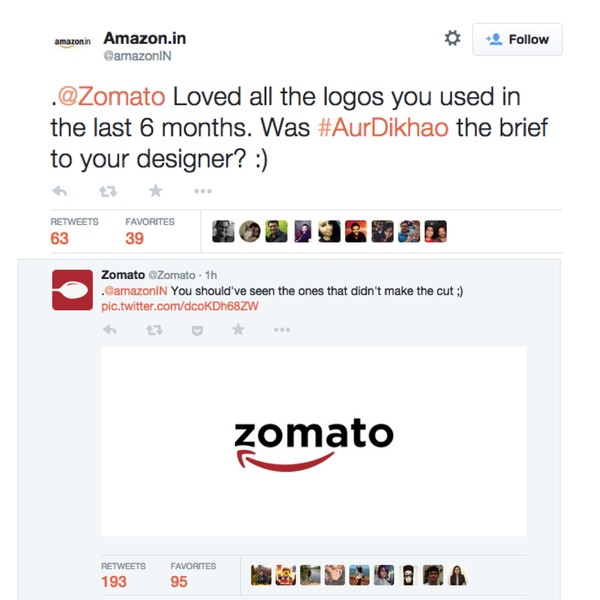 Zomato Amazon
