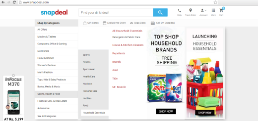 snapdeal launched household essentials
