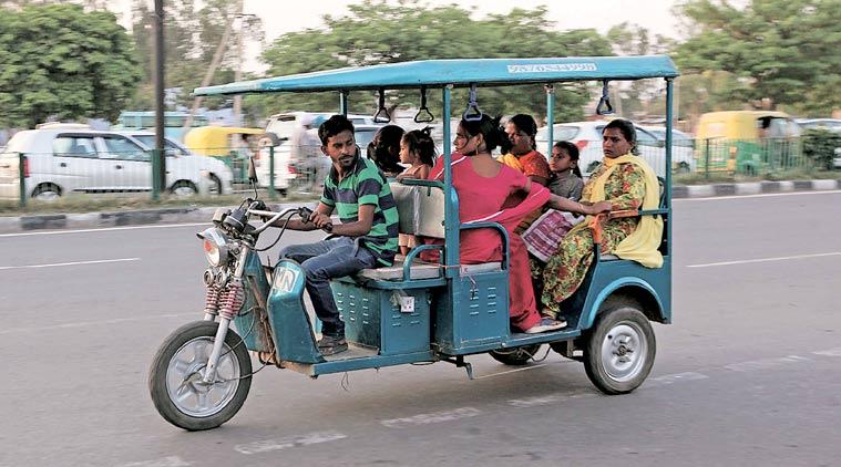 Ola e-rickshaw
