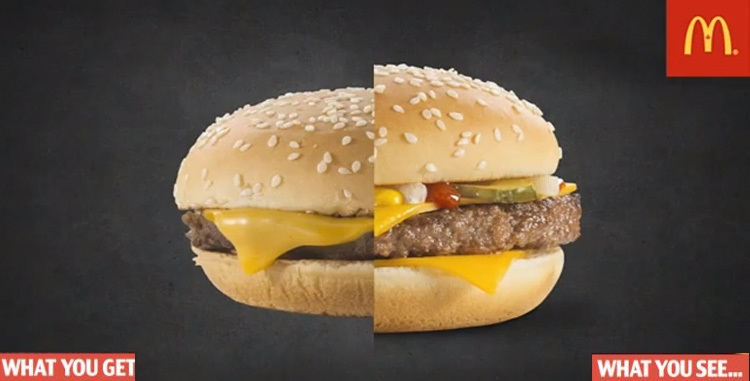 McDonalds Burger Ads Vs Reality