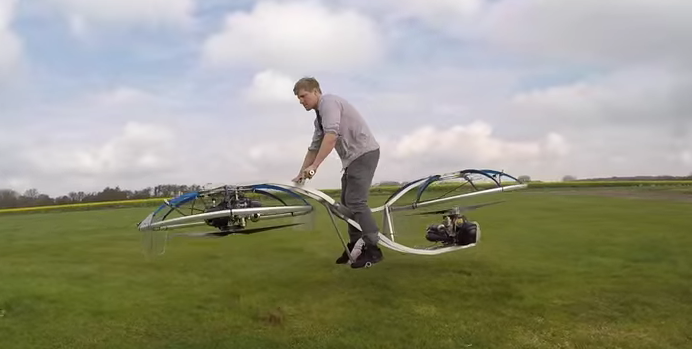 Homemade Hoverbike Colinfurze