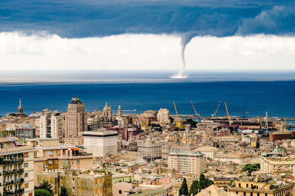 A tornado in Genoa, Italy