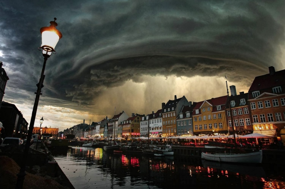The heavens open. Copenhagen, Denmark