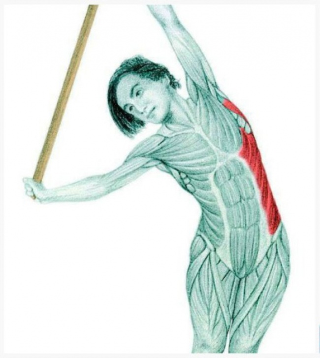 Lateral flexion with a dowel