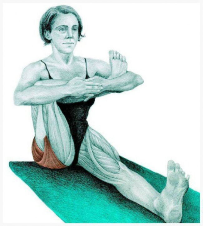 Seated half pigeon pose