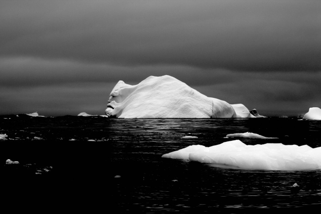 The face of an iceberg