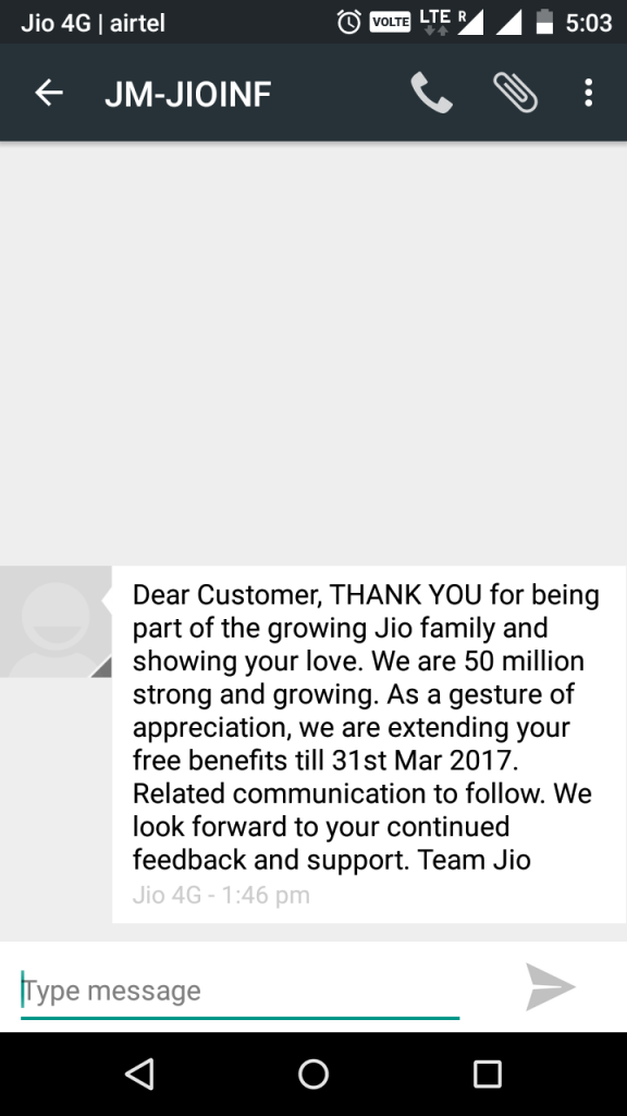 Reliance Jio Extended Preview offer