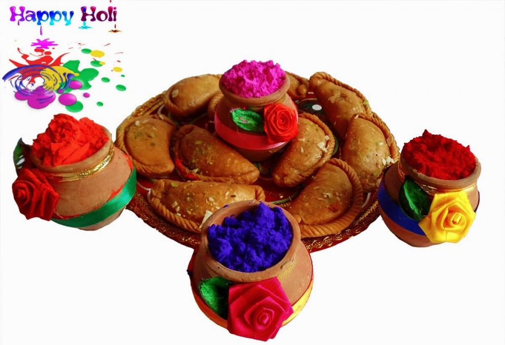 happy holi special gujiya