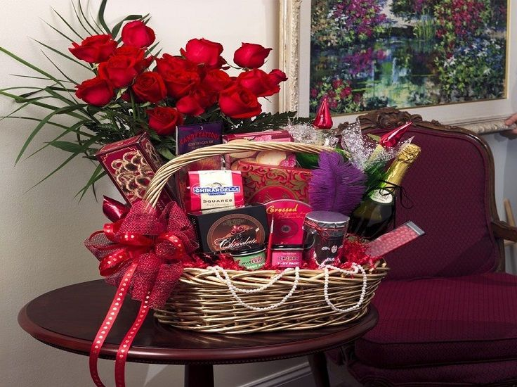 valentine day gift basket