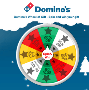 dominos spin and win offer